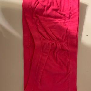 neon pink bandeau